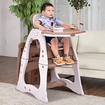 Amazon Com Costzon 3 In 1 Baby High Chair Desk Convertible Play
