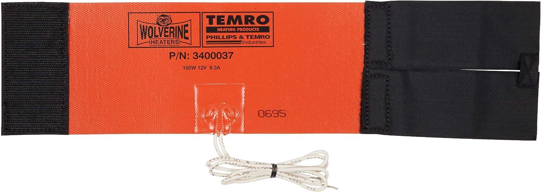 Zerostart 3400037 (Wolverine Model FH-100) Silicone Pad Diesel Fuel Filter Heater Wrap | 12 Volts | 100 Watts