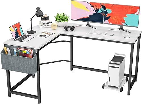 Foxemart L Shaped Desk Corner Desk 58″ Computer Gaming Desk PC Table Writing Workstation