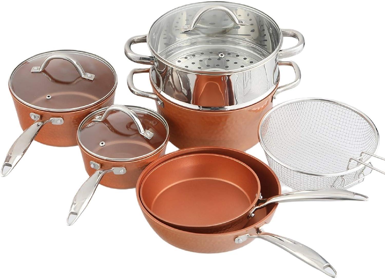 Copper cookware set
