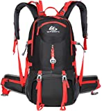 ANYA SMART Lightweight Waterproof 50L Hiking/camping/travel/school Backpack with a detachable panda-shaped Safety reflector