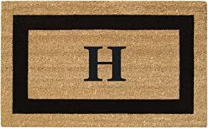 "Nedia Home Monogrammed H Superscraper Single Picture Frame, 20"" x 36"", Black"