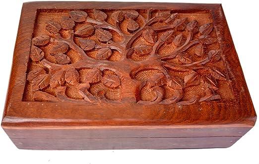Rastogi artesanías de madera tallado de Full diseño de árbol de la ...