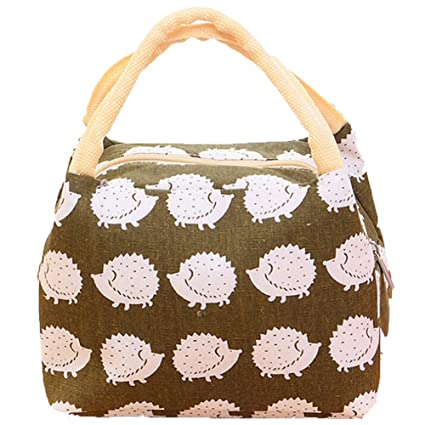 0fe29d7687af Lalang Thermal Insulated Lunch Bag Women Lunch Box Tote Cooler Bag  (Hedgehog)  Amazon.co.uk  Kitchen   Home