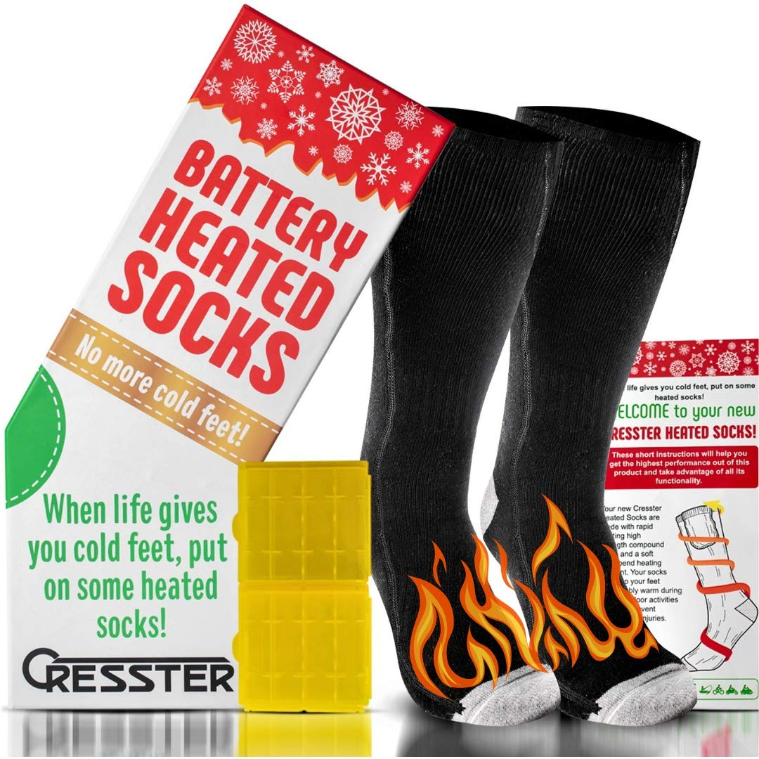 9282260e808 Heated Socks for Men and Women - Electric Battery Operated Warming Socks  Perfect for Tall or Ski Boots
