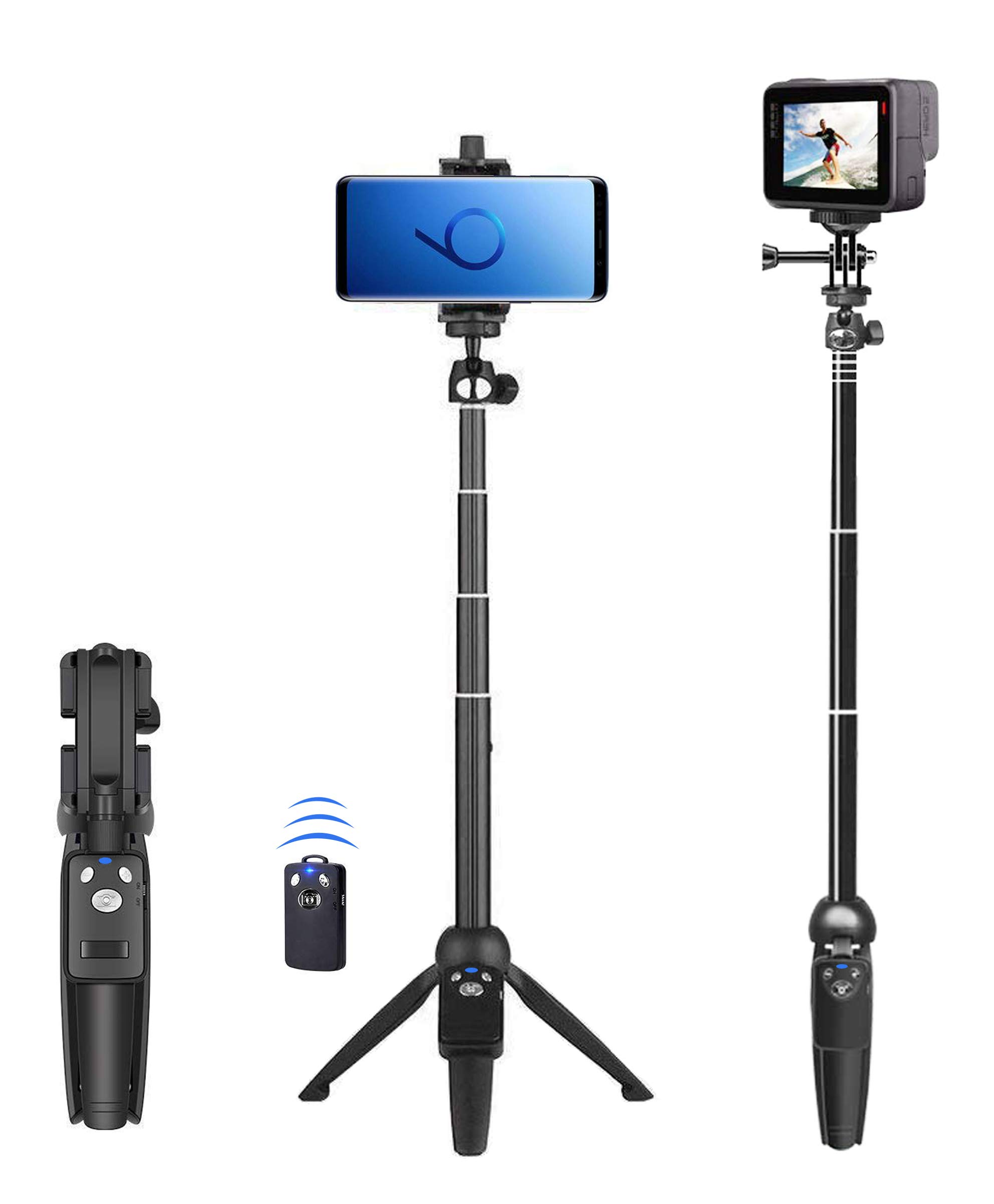 Selfie Stick, 40 inch Extendable Selfie Stick Tripod,Phone Tripod with Wireless Remote Shutter Compatible with iPhone Xs Max Xr X 8Plus 7 6 6s Plus, Android, Samsung Galaxy S10 S9,Gopro and More by BZE