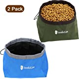 Awakelion Collapsible Dog Bowl, Portable Travel Dog Bowl Kit for Food and Water -Perfect for Medium & Large Dog