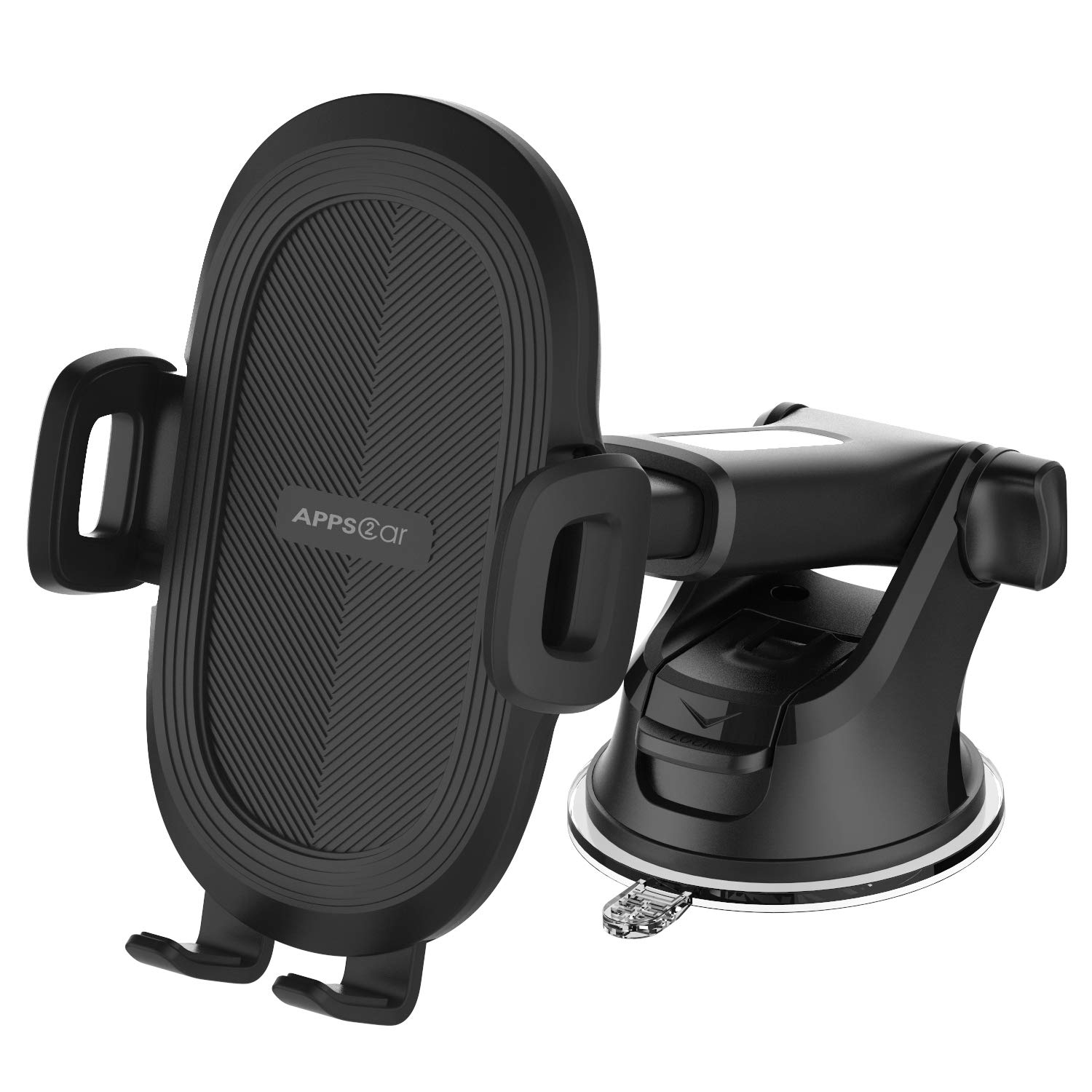 Phone Holder for Car, APPS2Car Universal Dashboard & Windshield Suction Cup Car Phone Mount with Strong Sticky Gel Pad,Compatible W/iPhone Xs 8 Plus 7 Samsung Galaxy S10 E S9 S8 Plus&Other Smartphone