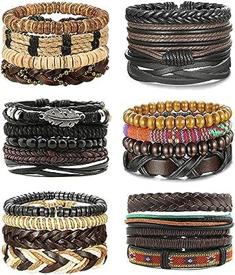 Unisex Faux Leather Braided Bracelet,Adjustable,TRIBALVarious Colours Gift Love