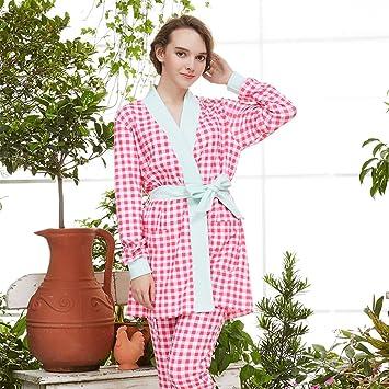 Albornoces Otoño Invierno temporada Señora pijamas pijamas de algodón puro pijamas de manga larga ropa casual