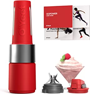 OYeet Personal Blender Shakes and Smoothies 10 Sec Quick Nutrition Extractor 1000W iF Design Award BPA Free Recipes Available (Coral Red)