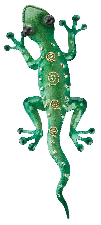 Gecko Wall Decor Climbing Green Lizard Metal Wall Art Plaque Decor ...