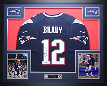 tom brady framed jersey