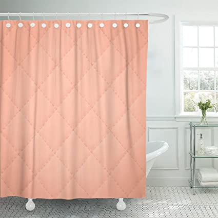 VaryHome Shower Curtain Black Abstract Patchwork Quilt Pattern Geometric Dusty Rose Rusty Color Colorful Copper Creative