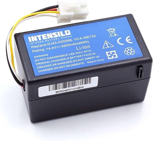 INTENSILO Batería Li-Ion 3400mAh (14.4V) para robot aspidador Samsung Navibot SR8940, SR8950, SR8980, SR8981, VCR8940 como DJ43-00006B, VCA-RBT30.: Amazon.es: Hogar