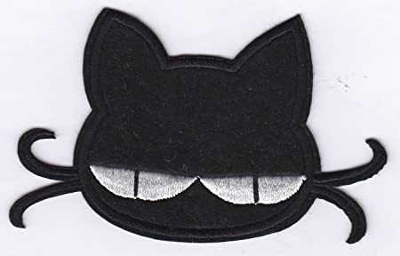 Hello kitty chococat head iron on sew on embroidered badge
