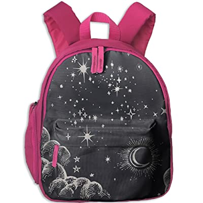 well-wreapped Star Moon Cloud Sky Drawings Kids School Backpack