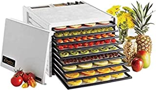 product image for Excalibur 3926TW 9-Tray Electric Food Dehydrator with Temperature Settings and 26-hour Timer Automatic Shut Off for Faster and Efficient Drying Includes Guide to Dehydration Made in USA, 9-Tray,White