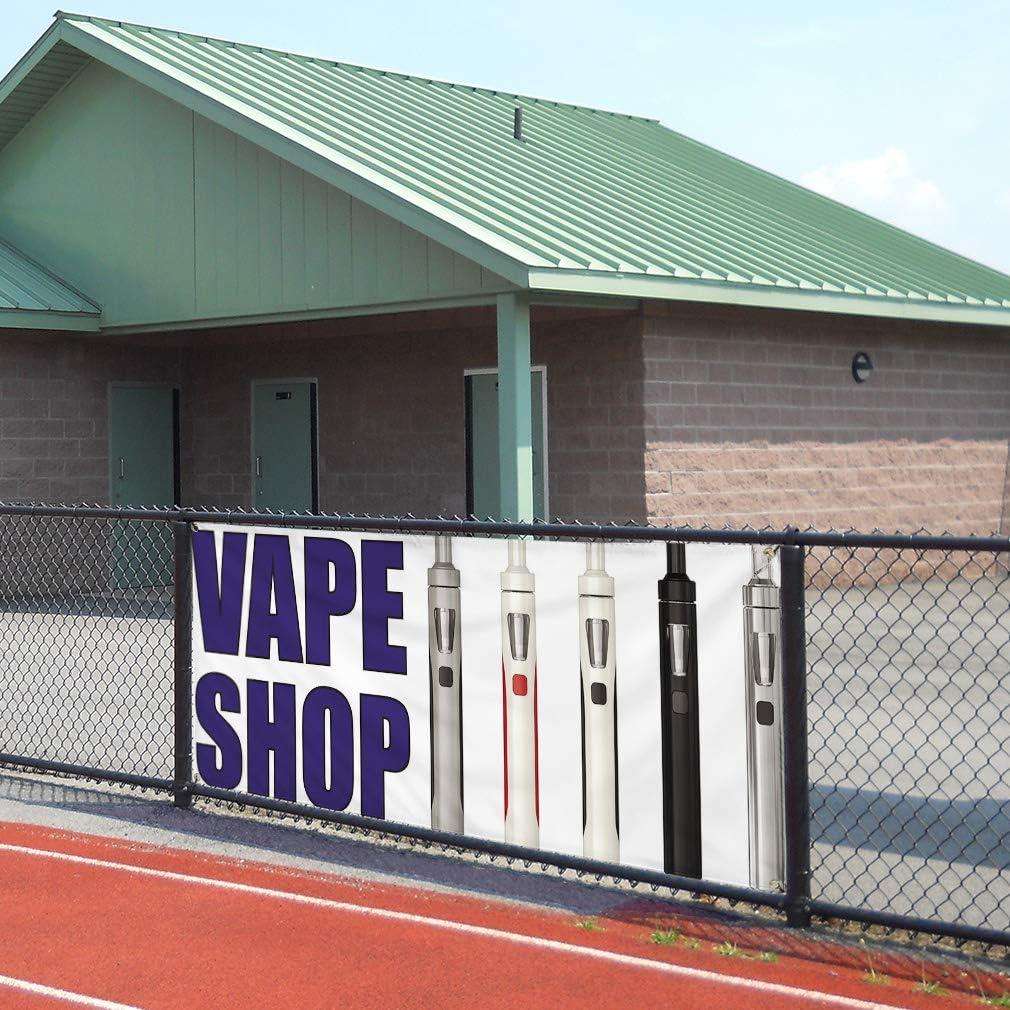 8 Grommets One Banner Vinyl Banner Sign Vape Shop #1 Business Vape Shop Outdoor Marketing Advertising White Multiple Sizes Available 48inx96in