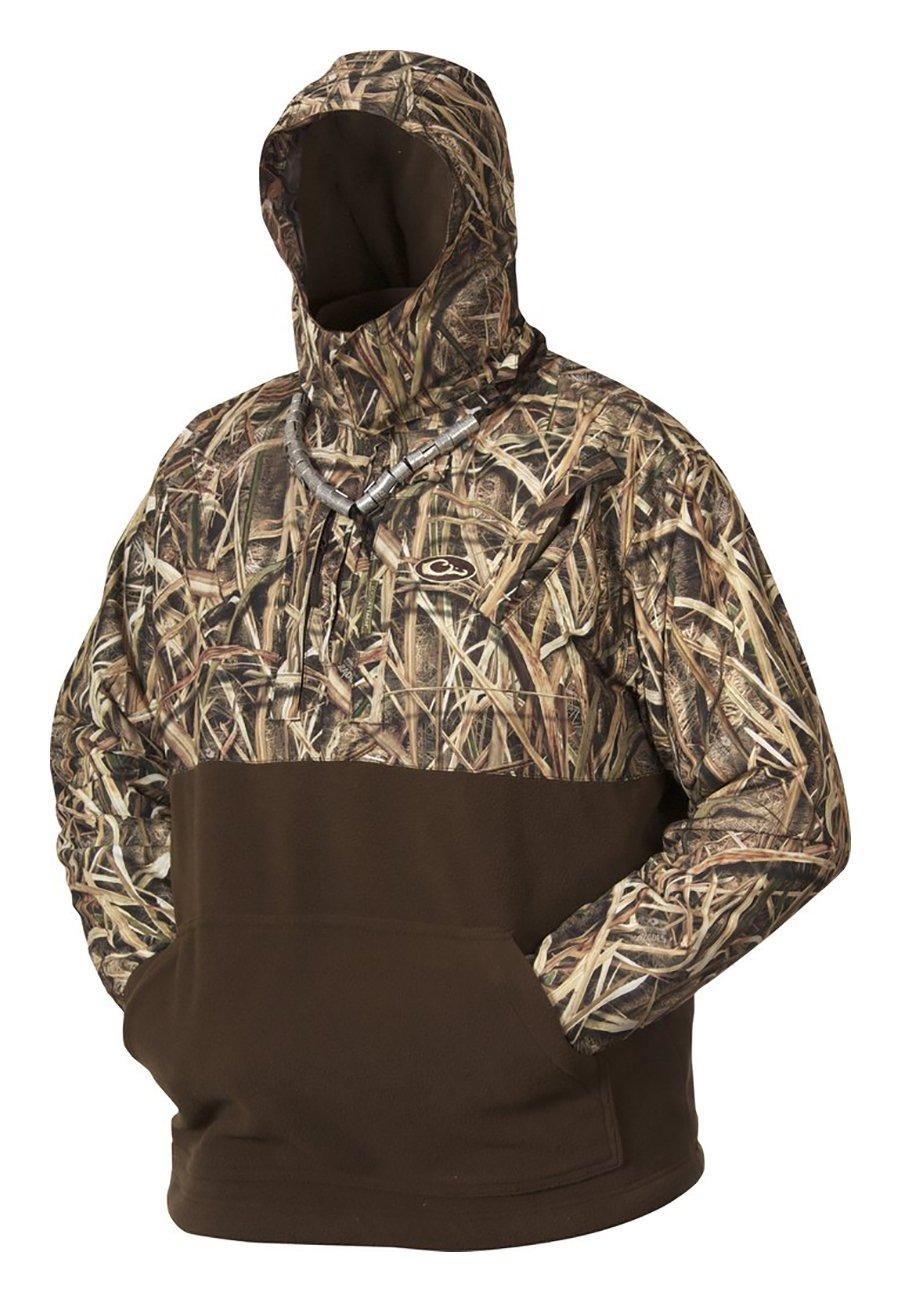 Drake MST Eqwader Deluxe 1//4 Zip with Hood  Jacket