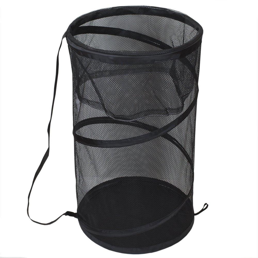 Sunbeam Breathable Mesh Collapsible Pop-Up Barrel Hamper (Black) by Sunbeam