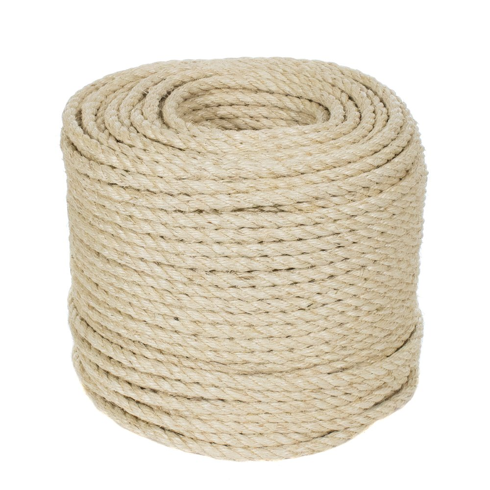 Pet Friendly Golberg 1//2-inch Sisal Rope 50-Feet
