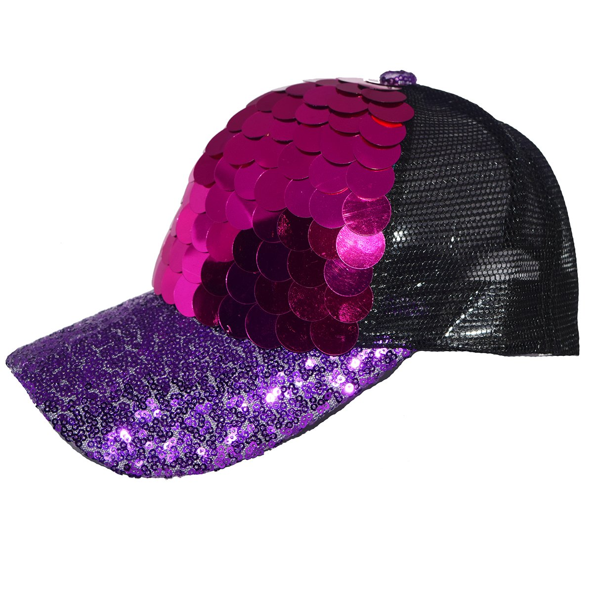 Multicolor Camouflage Style Baseball Cap Mermaid Sequins Adjustable Mesh Hat For Men And Women Quality First Tennis Tennis Caps