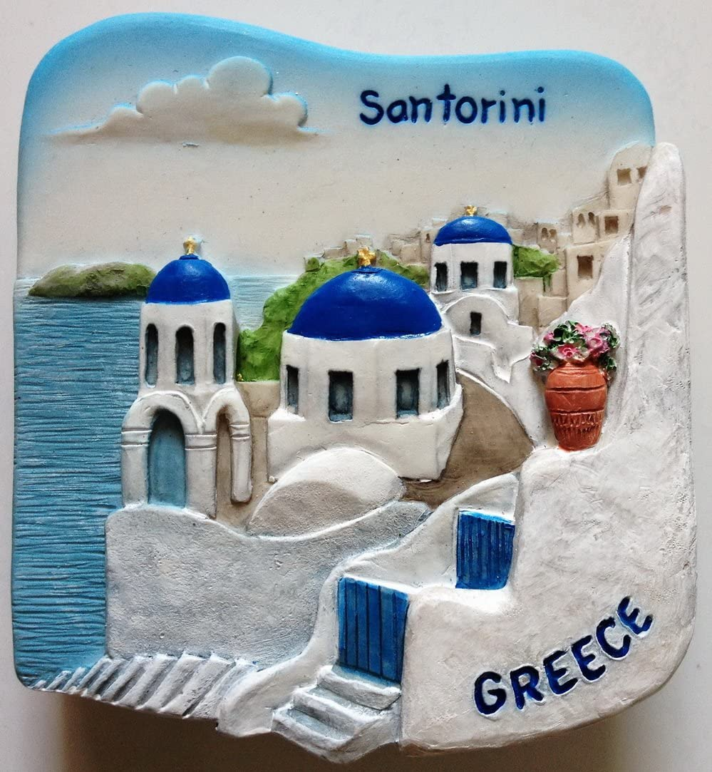 Santorini GREECE Resin 3D fridge Refrigerator Thai Magnet Hand Made Craft. by Thai MCnets