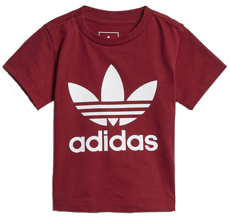 adidas Originals Infant's Trefoil T Shirt - Burgundy