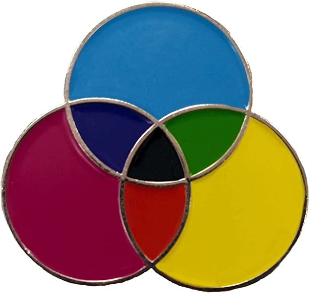 CMYK Color Table Enamel Pin - Great Gift for Web Designs, Graphic Artists,  Artists and More
