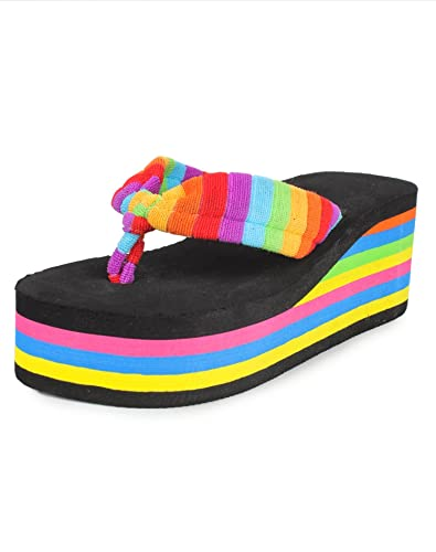 Do Bhai Women's Synthetic Flip Flops Women's Flip-Flops & Slippers at amazon