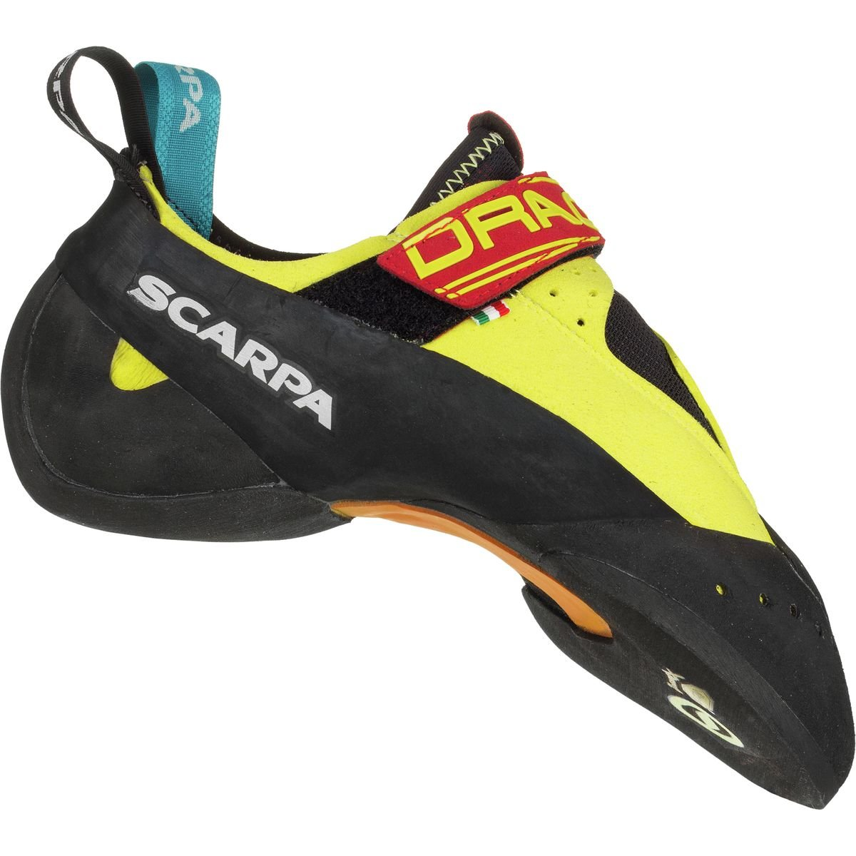 SCARPA Drago Climbing Shoe, Yellow, 38.5 EU/6 1/3 D US