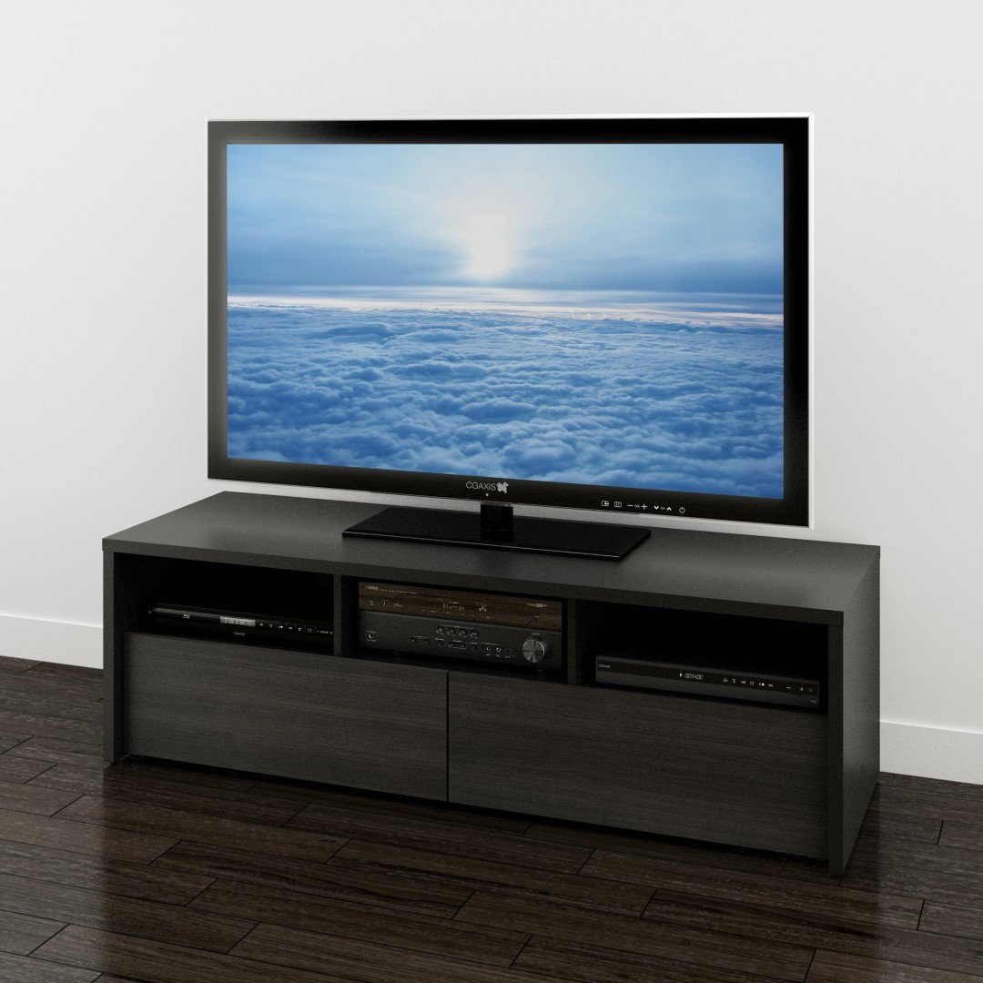 Sereni-T 60-inch TV Stand from Nexera, Black and Ebony