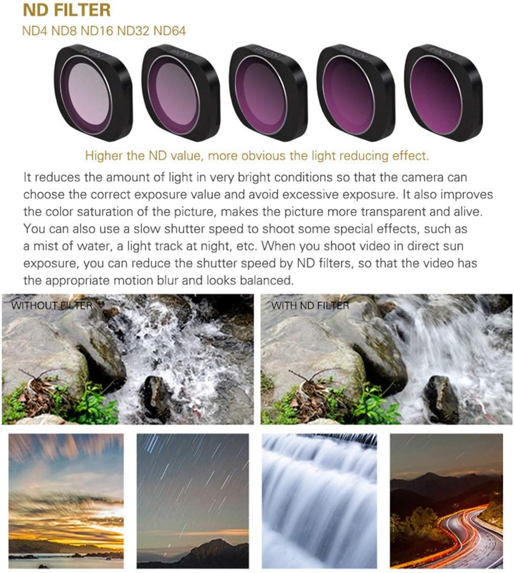 ND16 Wenini MCUV//CPL//ND4////ND8//ND16//ND32//ND64 Camera Lens Filters for DJI OSMO Pocket