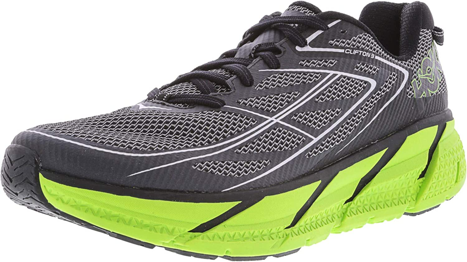 HOKA One One Clifton 3 - Zapatillas de Running para Hombre, Gris (Azul Grafito/Verde Intenso), 43 EU: Hoka One One: Amazon.es: Zapatos y complementos