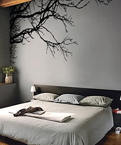 Amazon.com: Aiwall P003 Nature Vinyl Wall Art Tree Top Branches Wall ...