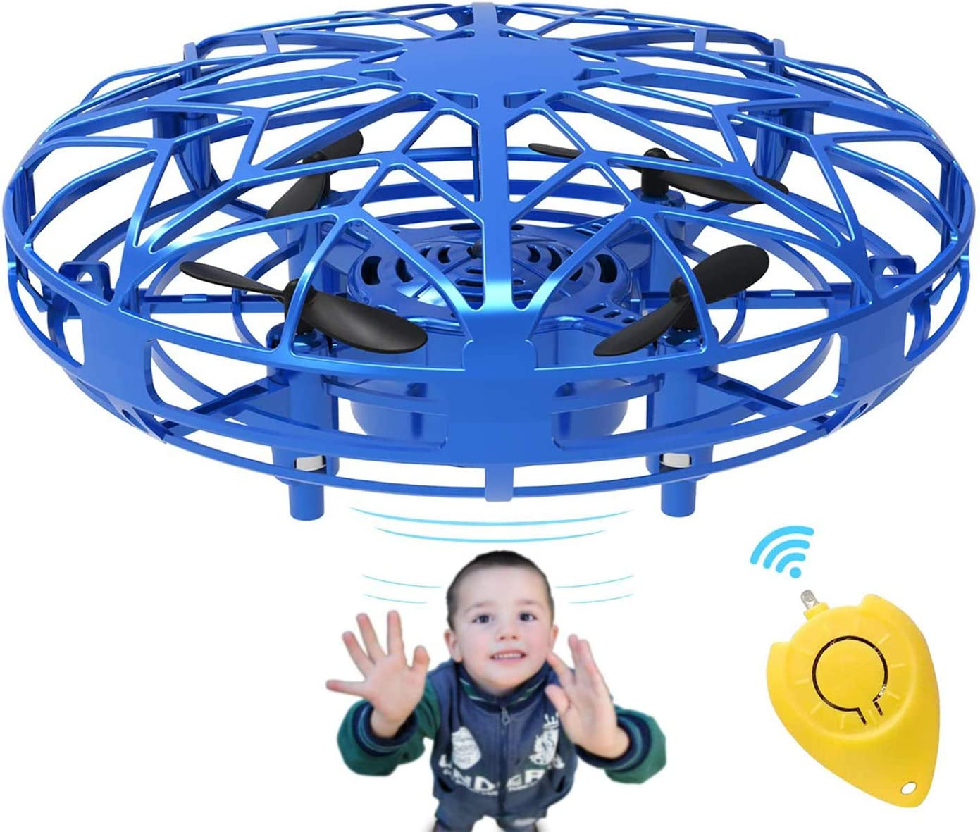 Kids Mini Drone UFO Type Flying Helicopter Spinner Fingertip Aircraft Toys X3W5