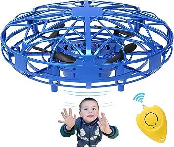 Opinión sobre Bdwing Mini Drones para niños y Adultos, RC UFO Helicóptero con Luces LED, Accionado a Mano Juguete Bola Volador Interactivo de inducción infrarrojo, Regalos para niños y niñas, Azul