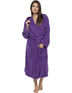 Ladies Robe Luxury Terry Towelling Cotton Dressing Gown Bathrobe Highly  Absorbent Women… df3705674