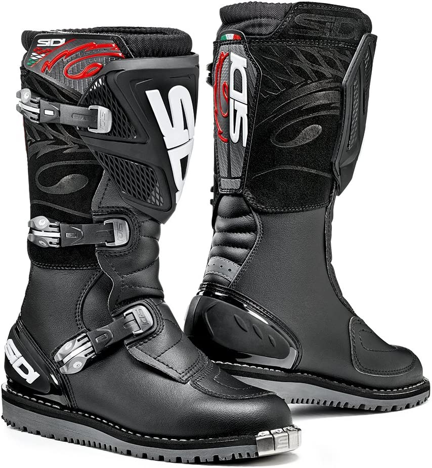 Sidi Discovery Rain Motorcycle Boots 40, Black