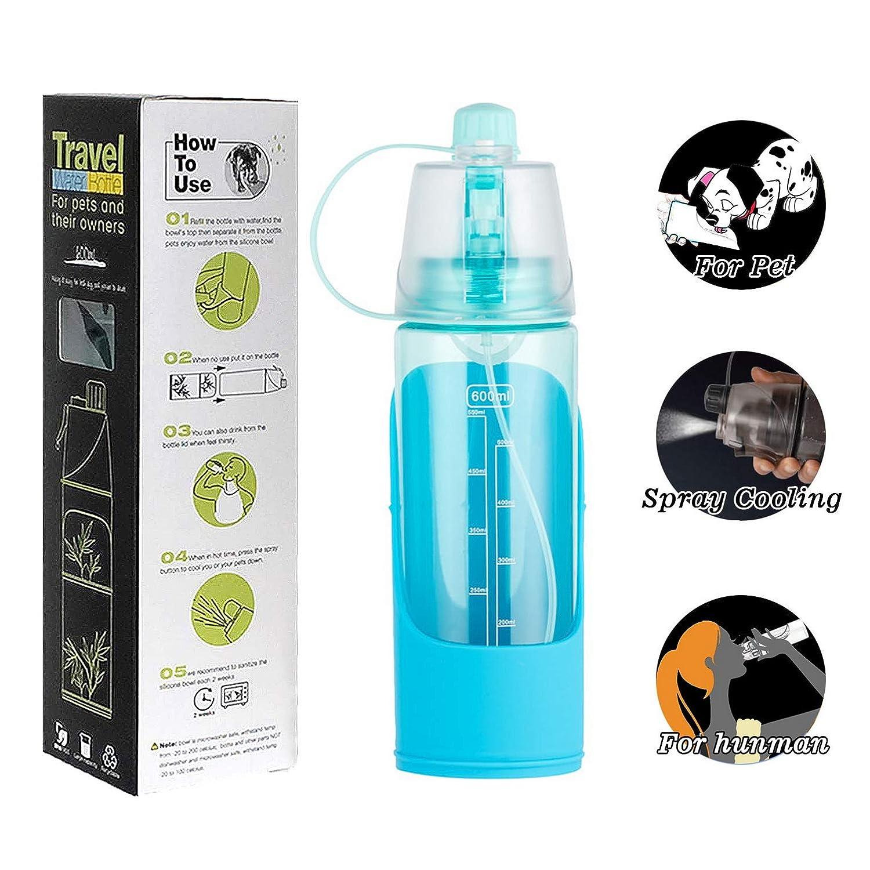 portátil botella de agua para para perro o gato con pulverizador ...