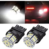 CCIYU 2 Pack White 3157 6000K 54SMD Epistar LED Bulbs DRL Light Back up/Reverse Light Brake Light Parking Light Tail Light R-turn Signal F-turn Signal Light