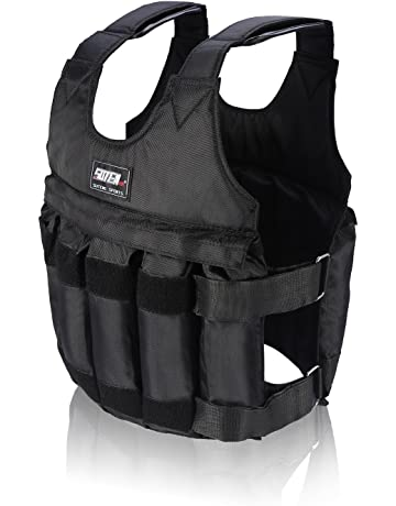 Yosoo 44lb/20 kg peso Weighted Vest-Chaqueta ejercicio boxeo Workout Fitness Training