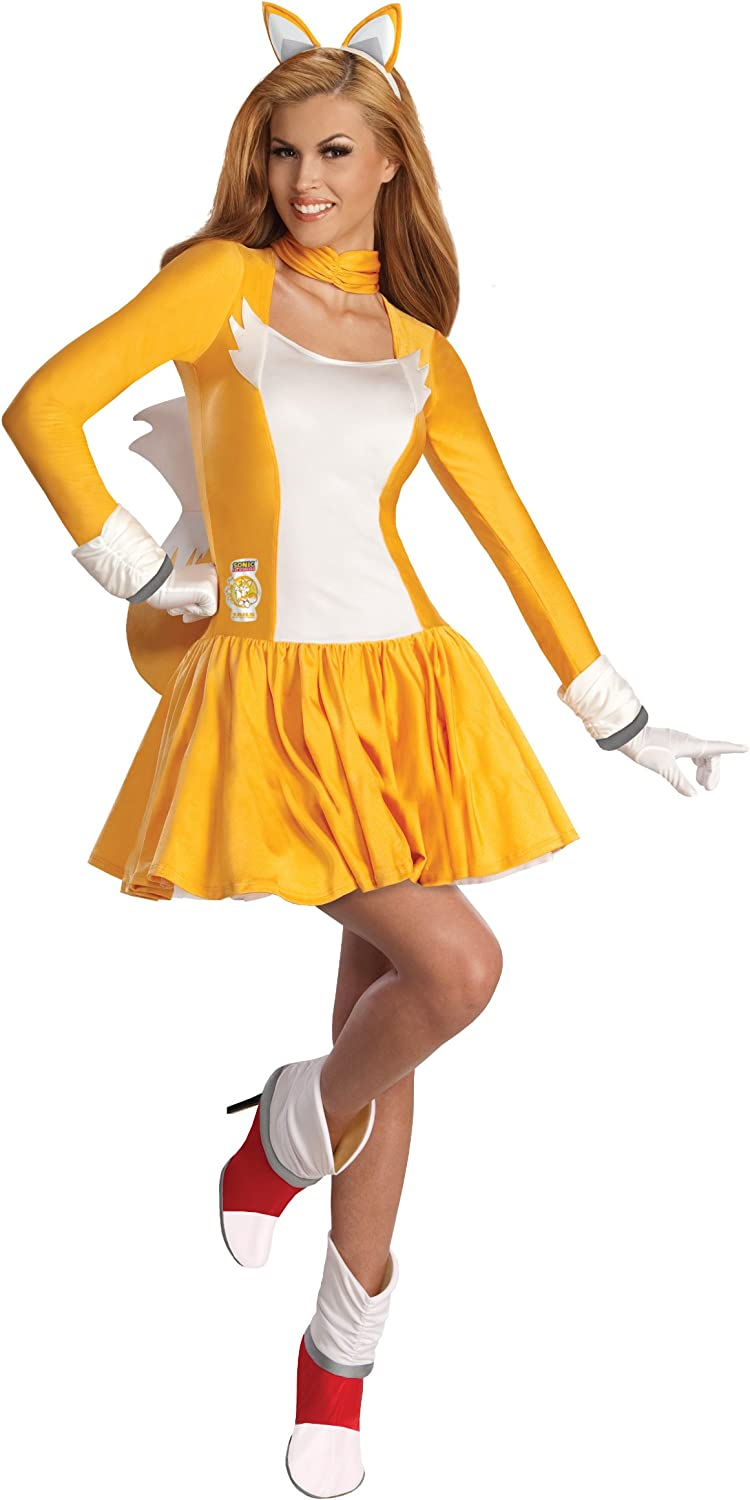 Secret Wishes Costume Sonic The Hedgehog Adult Tails Dress And Accessories Orange White Small Amazon Ca Clothing Accessories