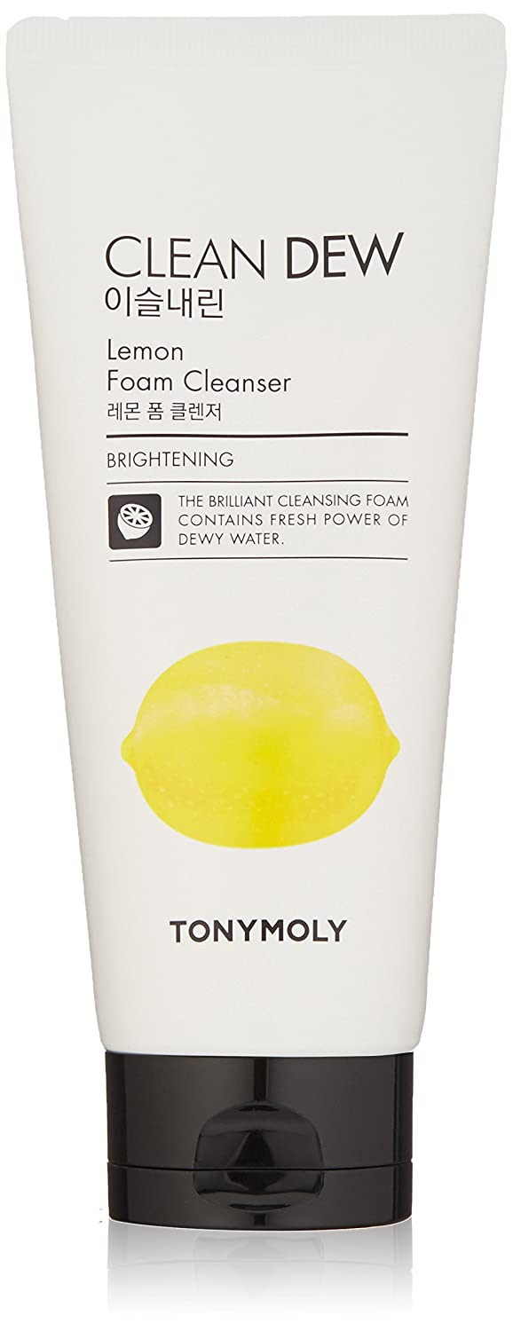 TONYMOLY Clean Dew Lemon Foam Cleanser, Lemon, 6 Fl Oz