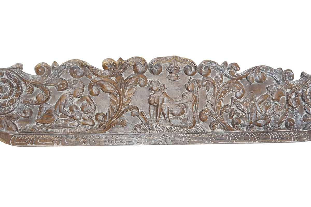 Vintage Carving Headboard Handcarved Kamasutra Love Hymn To Joy Of Life Interior Design by Mogul Interior (Image #2)