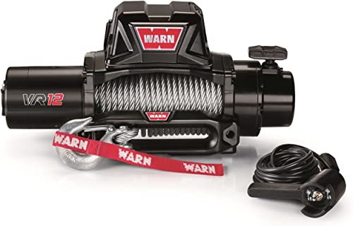 WARN 96820 VR12 Electric Winch with Steel Rope - 12,000 lbs. Capacity