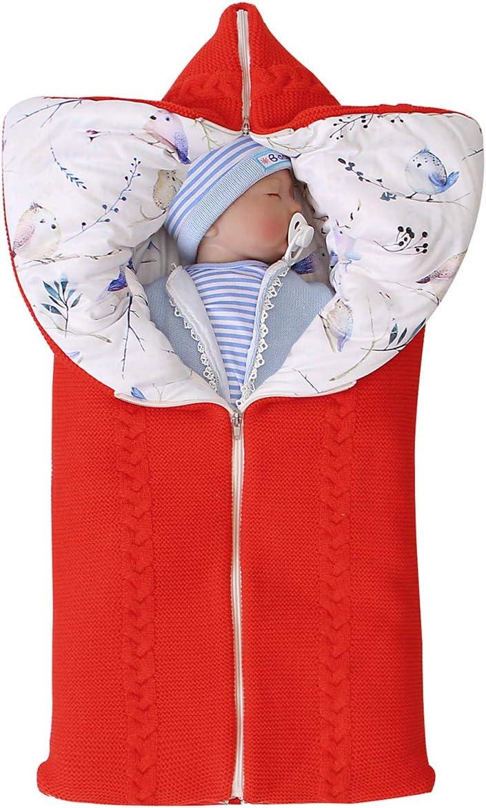 ROSEBRAR multifuncional ajustable reci/én nacido beb/é swaddle manta cochecito envoltura colchoneta de dormir grueso y c/álido saco de dormir saco de dormir para 0-6m