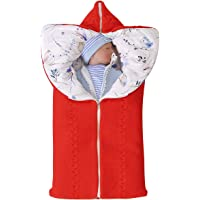 Newborn Swaddle Blanket Soft Fleece Stroller Wraps Baby Sleeping Bag for Boys Girls 0-12 Months (Red)