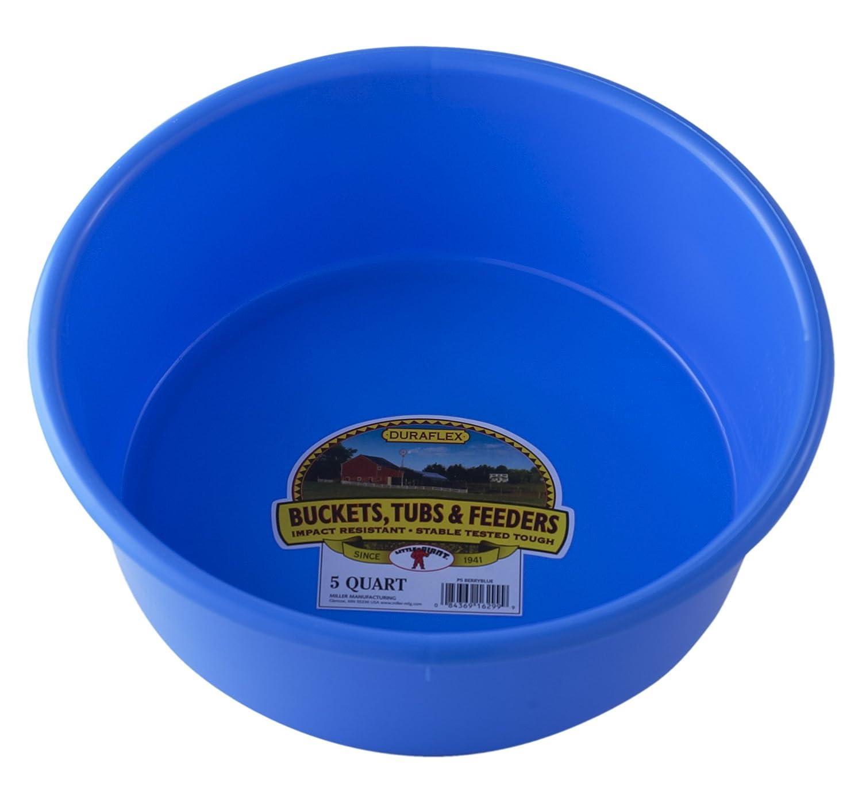 Little Giant P5BERRYBLUE Dura-Flex Plastic Utility Pan, 5-Quart, Berry Blue Miller Manufacturing
